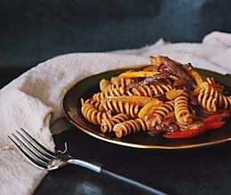 黑胡椒牛肉螺旋面|减脂餐的做法
