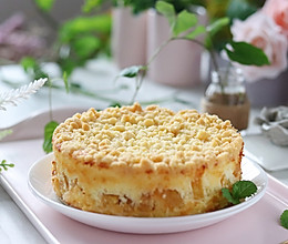 酥粒黄桃奶酪蛋糕(6寸),中秋节可以做起来的做法