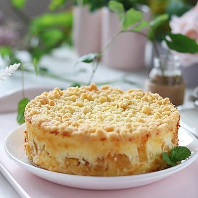酥粒黄桃奶酪蛋糕(6寸),中秋节可以做起来