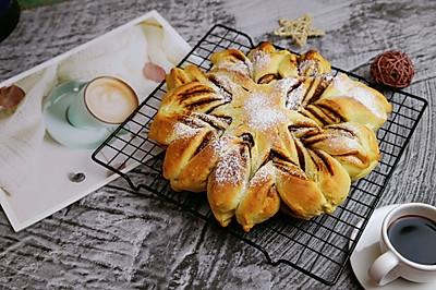 豆沙雪花面包