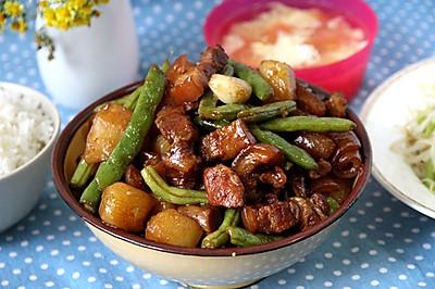 土豆豆角炖五花肉