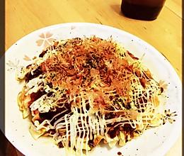 """日本料理""""大阪烧""""(お好み焼き)的做法"""