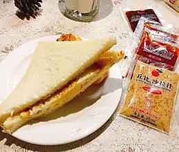 丘比鸡蛋三文治 #丘比沙拉汁#的做法