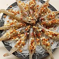蒜末粉丝蒸虾的做法图解7