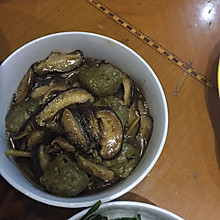 蔬菜肉丸炒香菇