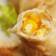#一人一道拿手菜# #有颜值好味道的玉米鲜虾鸡蛋饺
