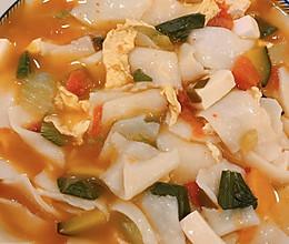 酸辣面片汤的做法