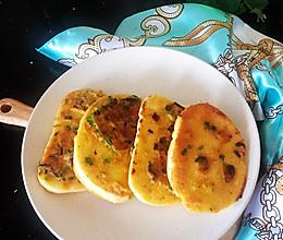 #我们约饭吧#肉松香葱煎馒头片#小朋友最爱早餐的做法