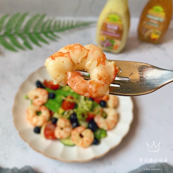 虾仁蔬菜沙拉的做法