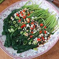 #花10分钟,做一道菜!# 蒜香鸡毛菜的做法图解7