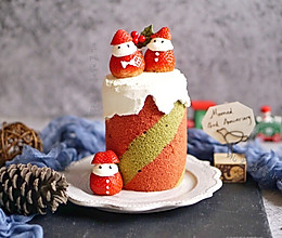 圣诞三色纪念日蛋糕卷的做法