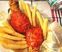 蒜汁甜辣酱韩式炸鸡的做法