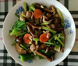 榛蘑炒麻椒的做法