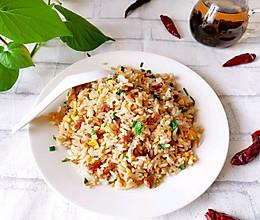 姜葱海米炒饭的做法