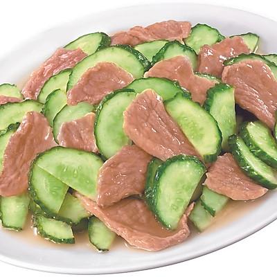 青瓜炒猪肉片