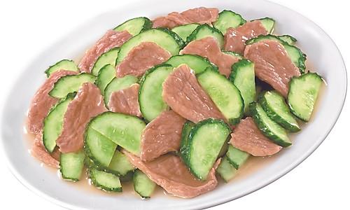 青瓜炒猪肉片 的做法