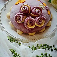 紫薯玫瑰花蛋糕的做法图解24