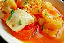 茄汁花菜烩豆腐的做法