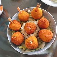 芙蓉虾球(虾仁土豆泥)