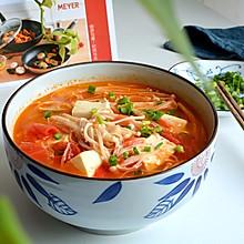 金針菇番茄豆腐湯