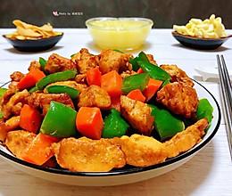 #元宵节美食大赏#青椒胡萝卜炒鸡丁