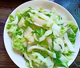 清炒早熟白菜的做法