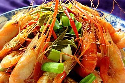 龙井茶香盐水虾