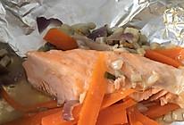 锡纸蒸三文鱼的做法