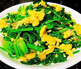 简单又减肥的菜-菠菜炒鸡蛋