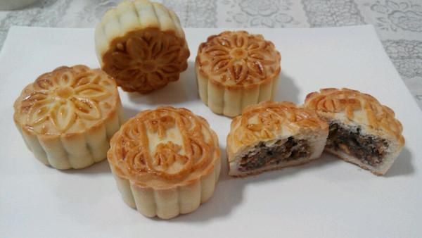 京式提浆五仁月饼
