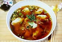 「私房」泡菜酸汤水饺的做法