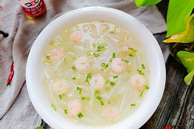 清淡甘甜的虾仁白萝卜汤