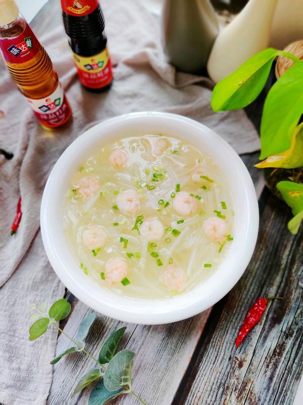 清淡甘甜的虾仁白萝卜汤的做法