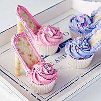 芭比高跟鞋杯蛋糕#美的FUN烤箱•焙有FUN儿#