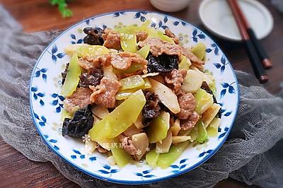 莴笋炒牛肉