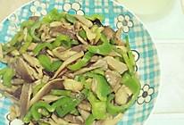 青椒炒平菇#春天不减肥,夏天肉堆堆#的做法
