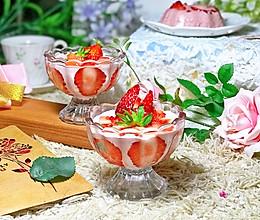 #春季食材大比拼#草莓慕斯杯的做法