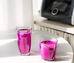 米博菜谱~美艳的饮品火龙果奶昔的做法