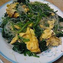 粉丝炒菠菜鸡蛋