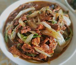 炒菜梗肉丝的做法