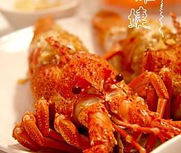 用帅气的-龙虾清理方法做美味的-蒜茸开背蒸龙虾的做法