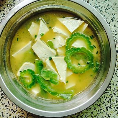 苦瓜豆腐汤   去火解毒 夏季必备良品