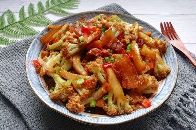 米饭杀手❗️超下饭的五花肉干锅花菜