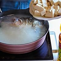 鲫鱼豆腐汤#金龙鱼营养强化维生素A纯香菜籽油#的做法图解7