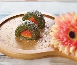 广式茶点-抹茶鲜果薄撑的做法