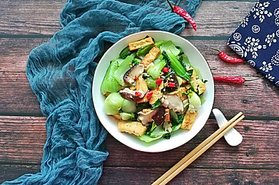 香菇油菜炒豆腐