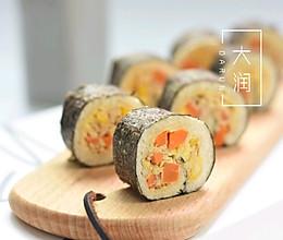 金枪鱼面包寿司卷的做法