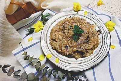 奶酪蘑菇炖糙米饭