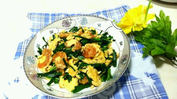 韭菜鸡蛋虾仁的做法