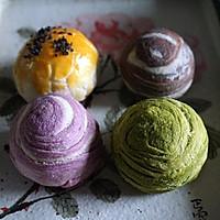 四种味道的蛋黄酥皮月饼—花好月圆,情谊绵绵的做法图解48